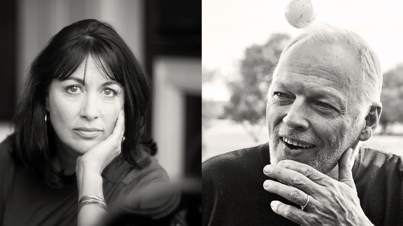 Polly Samson and David Gilmour bw